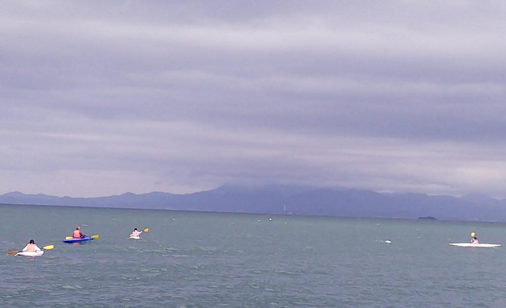 琵琶湖でカヌー体験